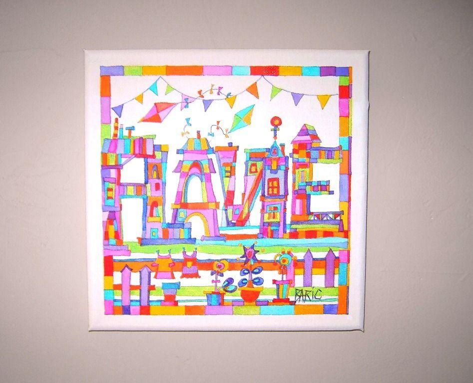 tableau pr nom personnalis flavie cadeau de naissance tableau pour chambre d 39 enfant. Black Bedroom Furniture Sets. Home Design Ideas