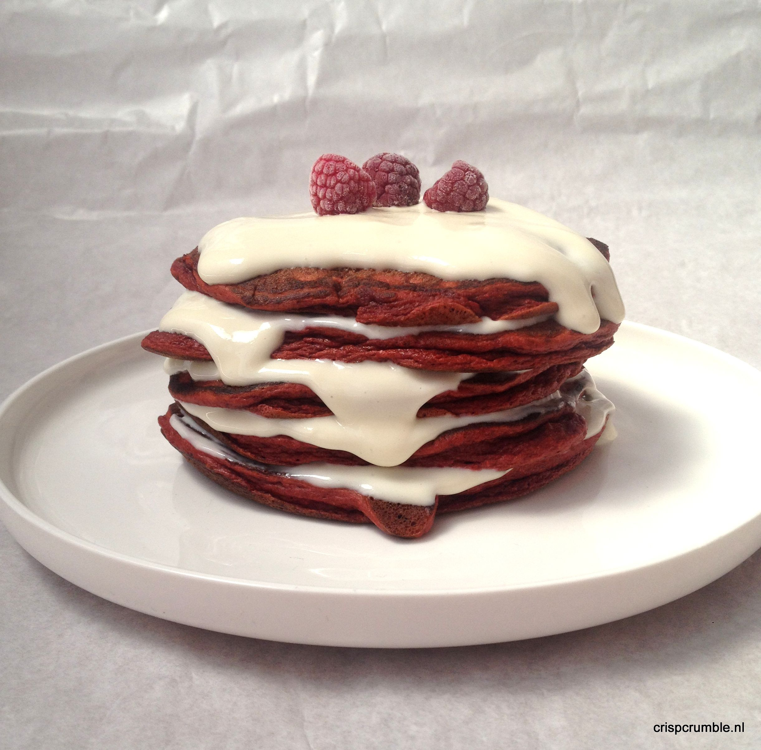 Red Velvet Protein Pancakes   Crisp and Crumble