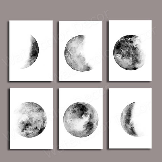 31+ Moon phases clipart black and white ideas