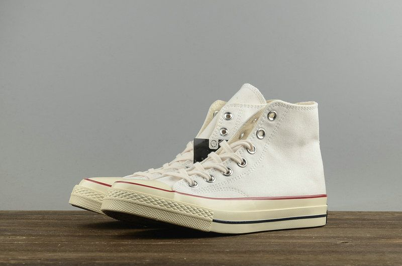 Buy Unisex Converse Chuck Taylor All Star 1970s Hi Top Parchment Grey Red  Black 144754 0125f38418a4