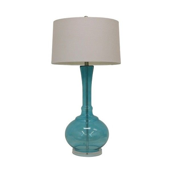 J Hunt Spa Blue Glass Table Lamp 84 Liked On Polyvore
