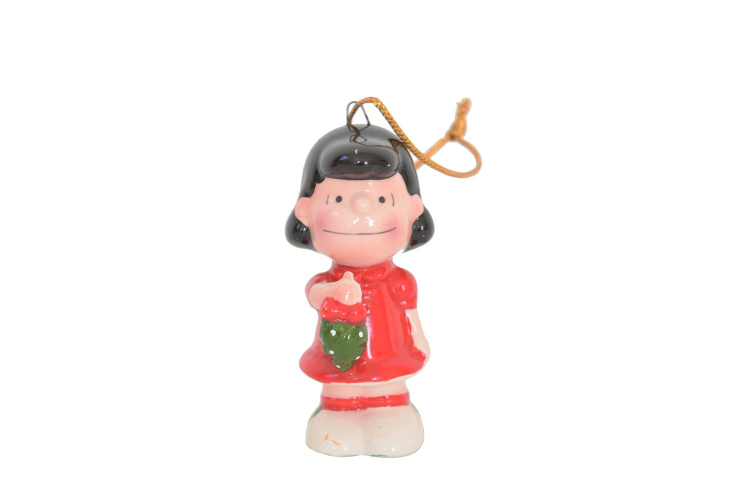 Vintage peanuts gang lucy christmas ornament s charles schulz