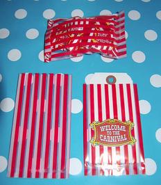 Mini carnival stripe treat bags.    - Jilly Bean Kids jillybeankids.com