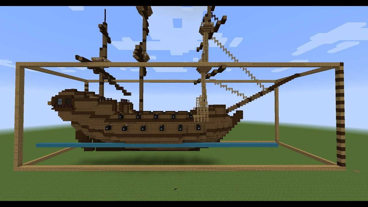 Minecraft sailing ship build Layer by layer building instructions World Download