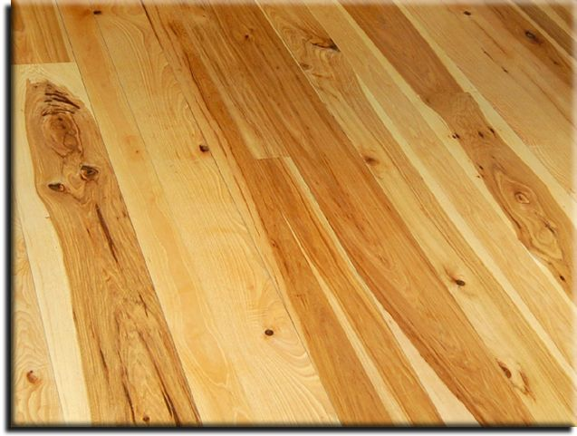 Wide Plank Rustic Hickory Flooring - manufactured by Appalachian Woods