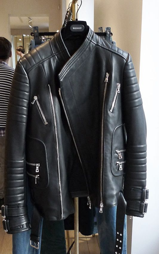 168e4991de7 balmain leather jacket men