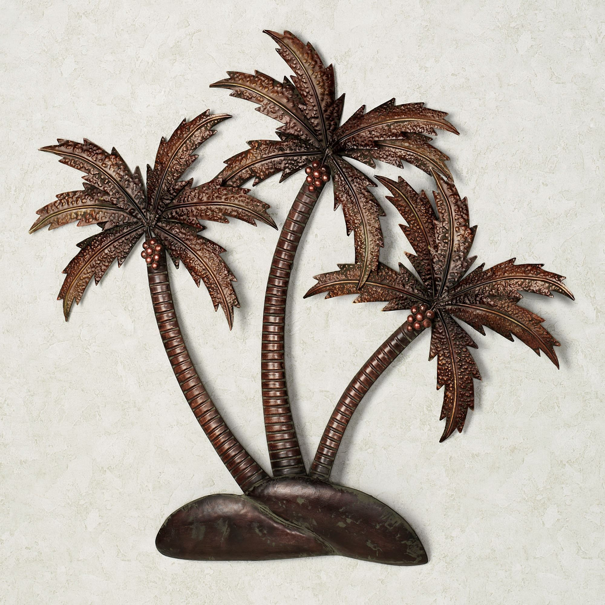 Palmiera Tropical Metal Wall Art