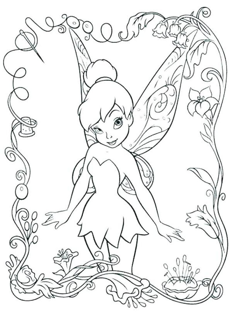 Cute Collection Of Tinkerbell Coloring Pages To Print Free Coloring Sheets Tinkerbell Coloring Pages Fairy Coloring Pages Free Disney Coloring Pages