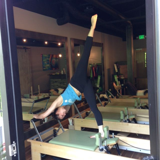 Martha Doing An Arabesque At The Pilates Barre Studio In Edwardsville Il Pilates Barre Pilates Studio Pilates
