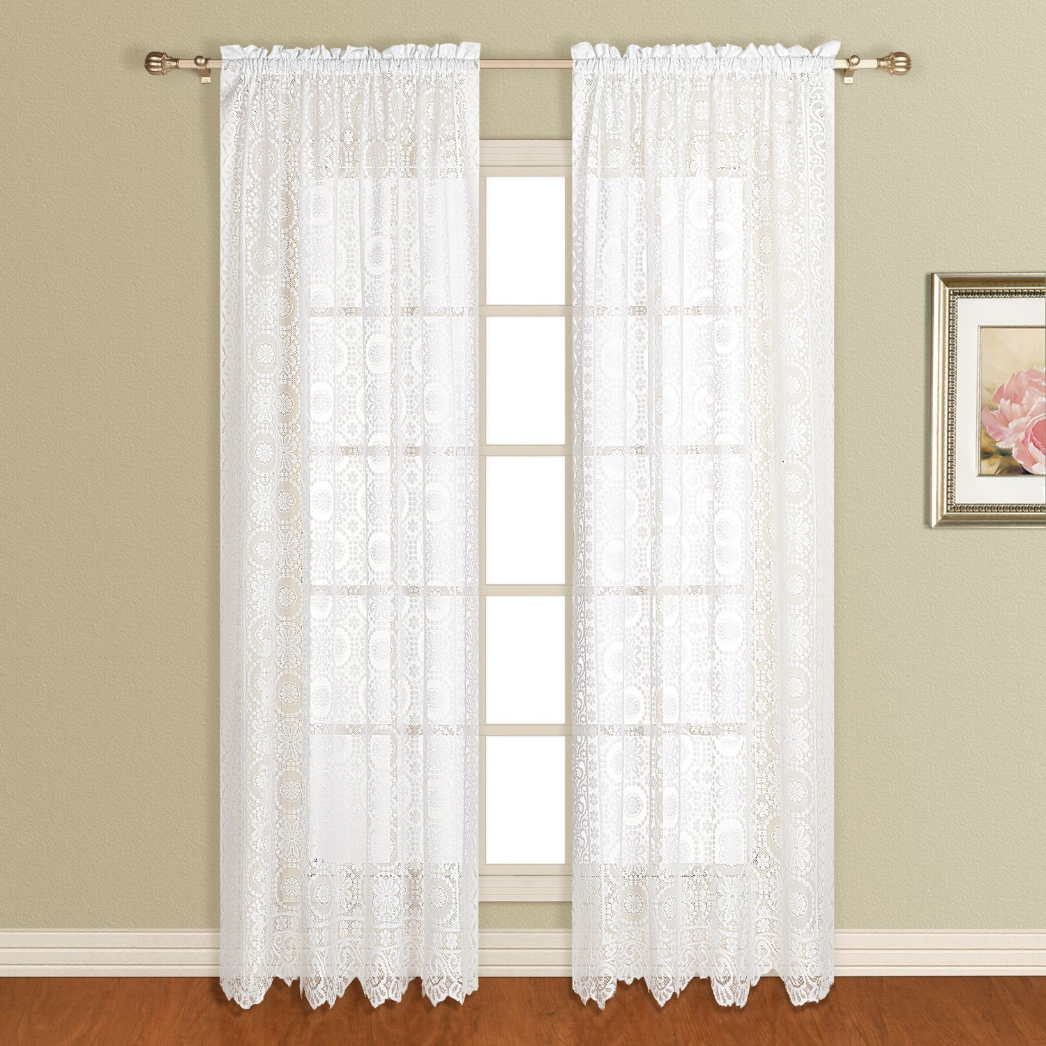 Zebra window coverings  united curtain company new rochele all over lace design
