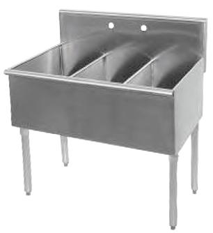 Universal Bs1512 3 Three Compartment Sink 36 Three Compartment Sink Commercial Sink Sink