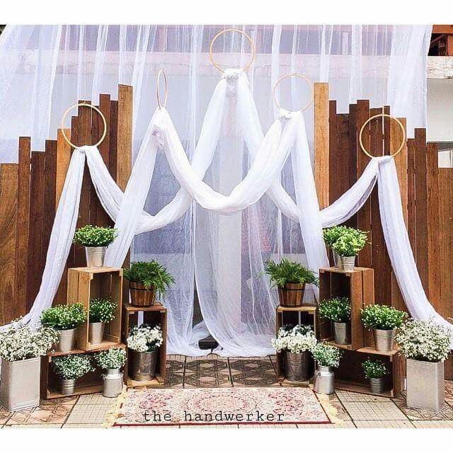 Capitol Inspiration Diy Wedding Ceremony Altars: Épinglé Par Nurul Nazihah Sur Backdrop, Altar, Arches