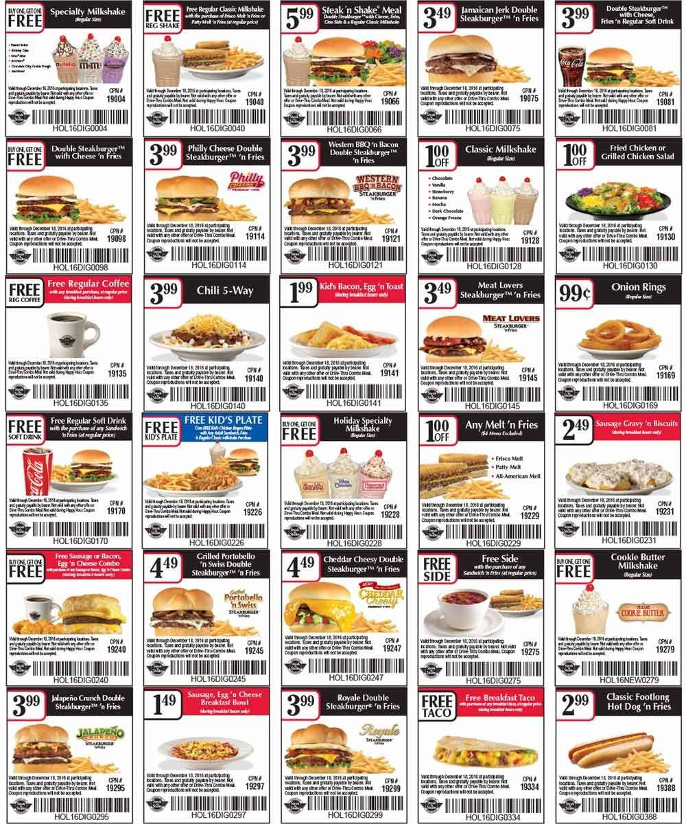 image about Steak and Shake Coupon Printable named Pinterest