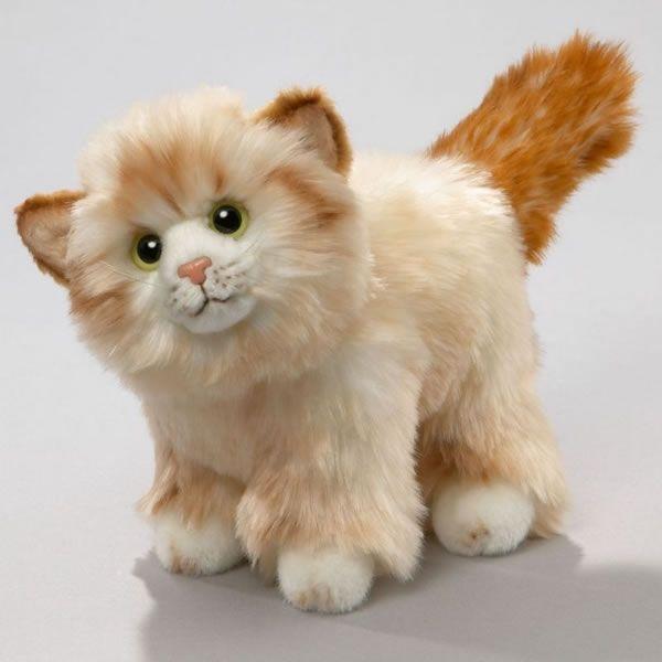 Pluschkatze Kuscheltier Katze Stehend Beige Ca 17 Cm Leosco Plusch Kuscheltier Katze Kuscheltier Tiere
