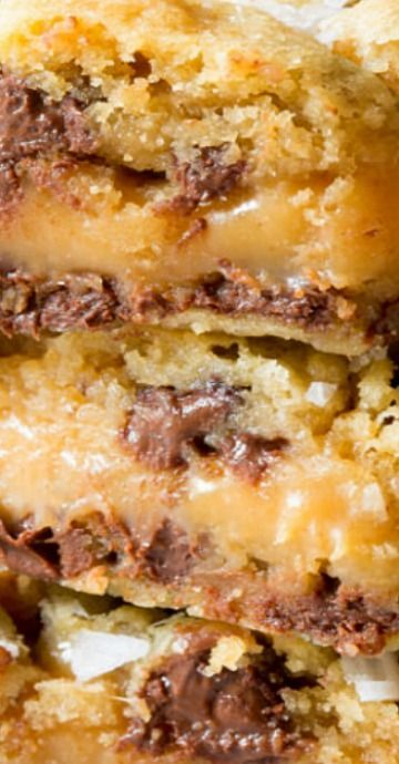 Photo of Salted Caramel Chocolate Chip Cookie Bars (Video) – A Spicy Perspective