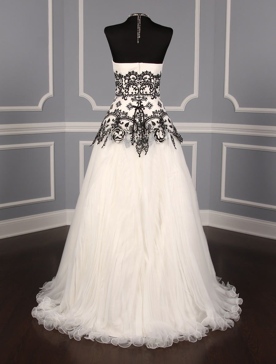 Discounted Designer Wedding Dresses Up To 90 Off Retail Your Dream Dress Discount Designer Wedding Dresses Trendy Wedding Dresses Black Lace Wedding