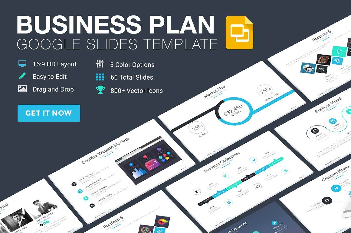 Business Plan Google Slides Template Business Plan Presentation