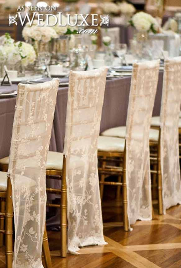 This could be easy to make and would add some uniformity to the this could be easy to make and would add some uniformity to the chairs without the cost of rental kind of romantic junglespirit Gallery