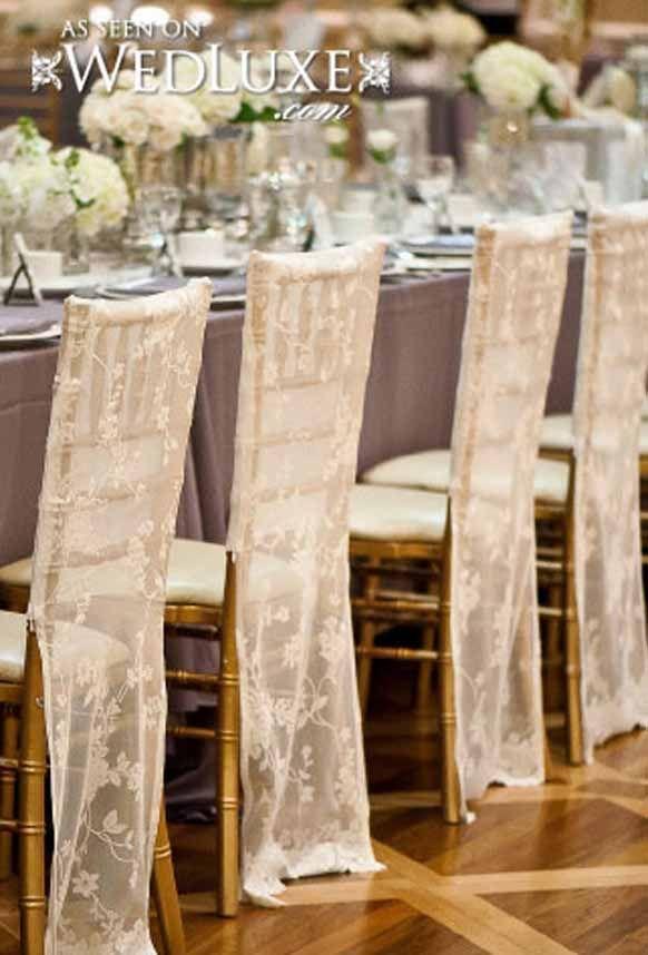 Stylish Lace Wedding Reception Chair decorations