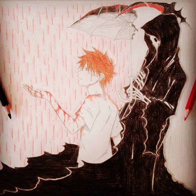 manga ''La muerte siempre te está acechando'' #draw #drawing #mydrawing #manga #mangadrawing #mymanga #mangaboy #mangadeath #death #blood #mangablood #anime #animedrawing #instadraw #art #artist #mangaart #mangalover #mangaka #comic #mycomic #fanmanga #animeartist #rain #rainblood
