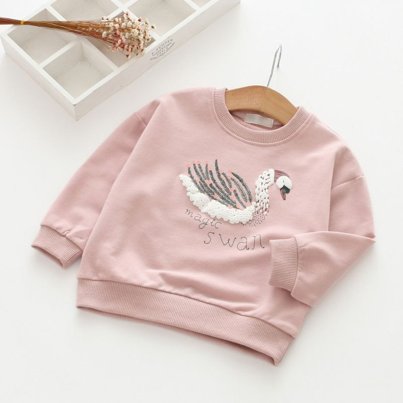 04d3c2b646de0 New 2018 spring and autumn girls baby letter cartoon shirt children ...