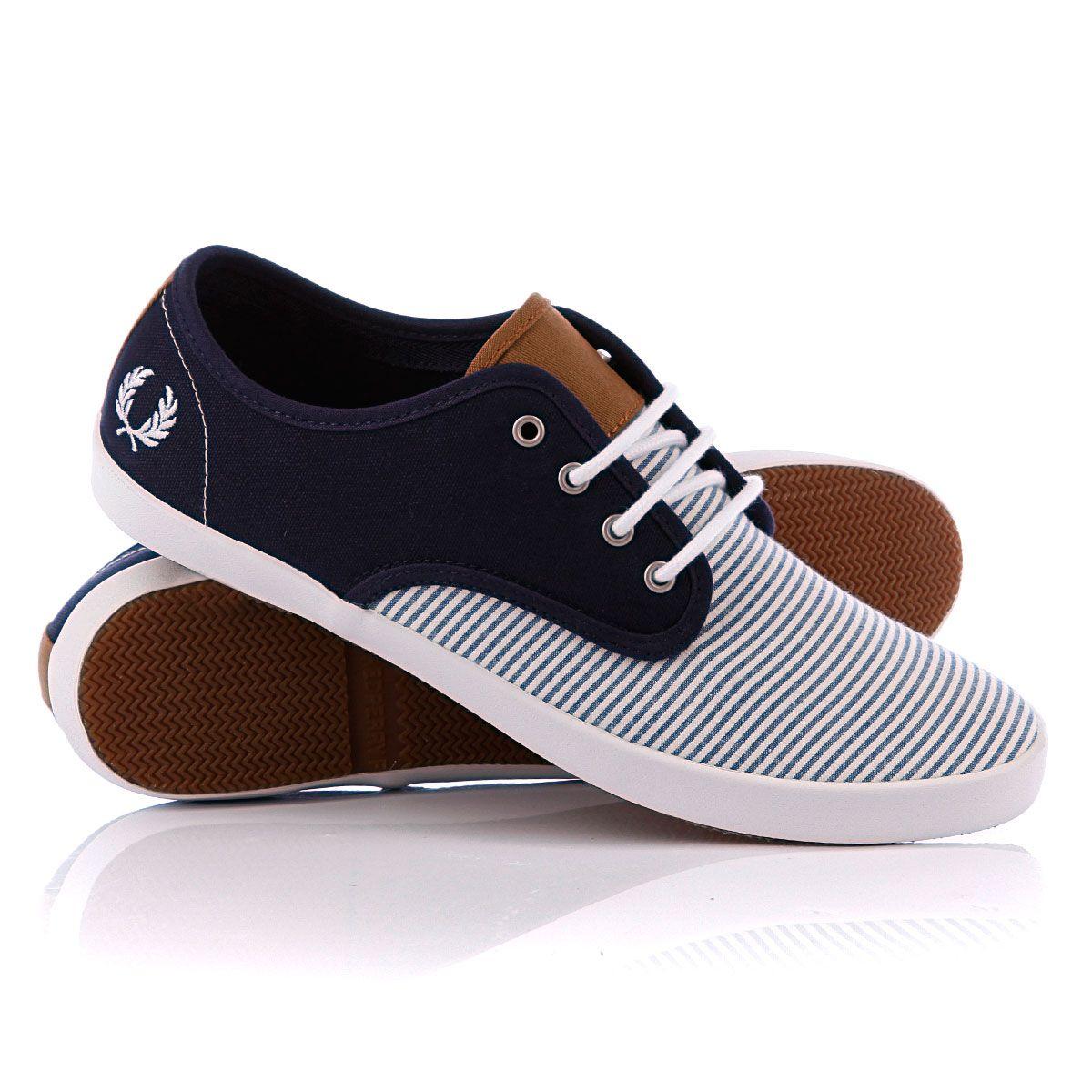 Кеды Fred Perry Foxx Seersucker Canvas Carbon Blue   Unique men's footwear   Shoes, Mens fashion ...