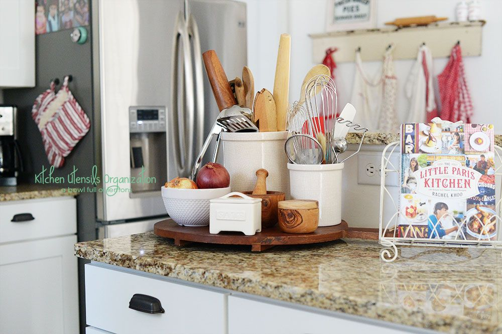 No More Searching For Your Utensils In Random Drawers And Jars Condense Organize You Kitchen Utensil Organization Utensil Organization Kitchen Counter Decor