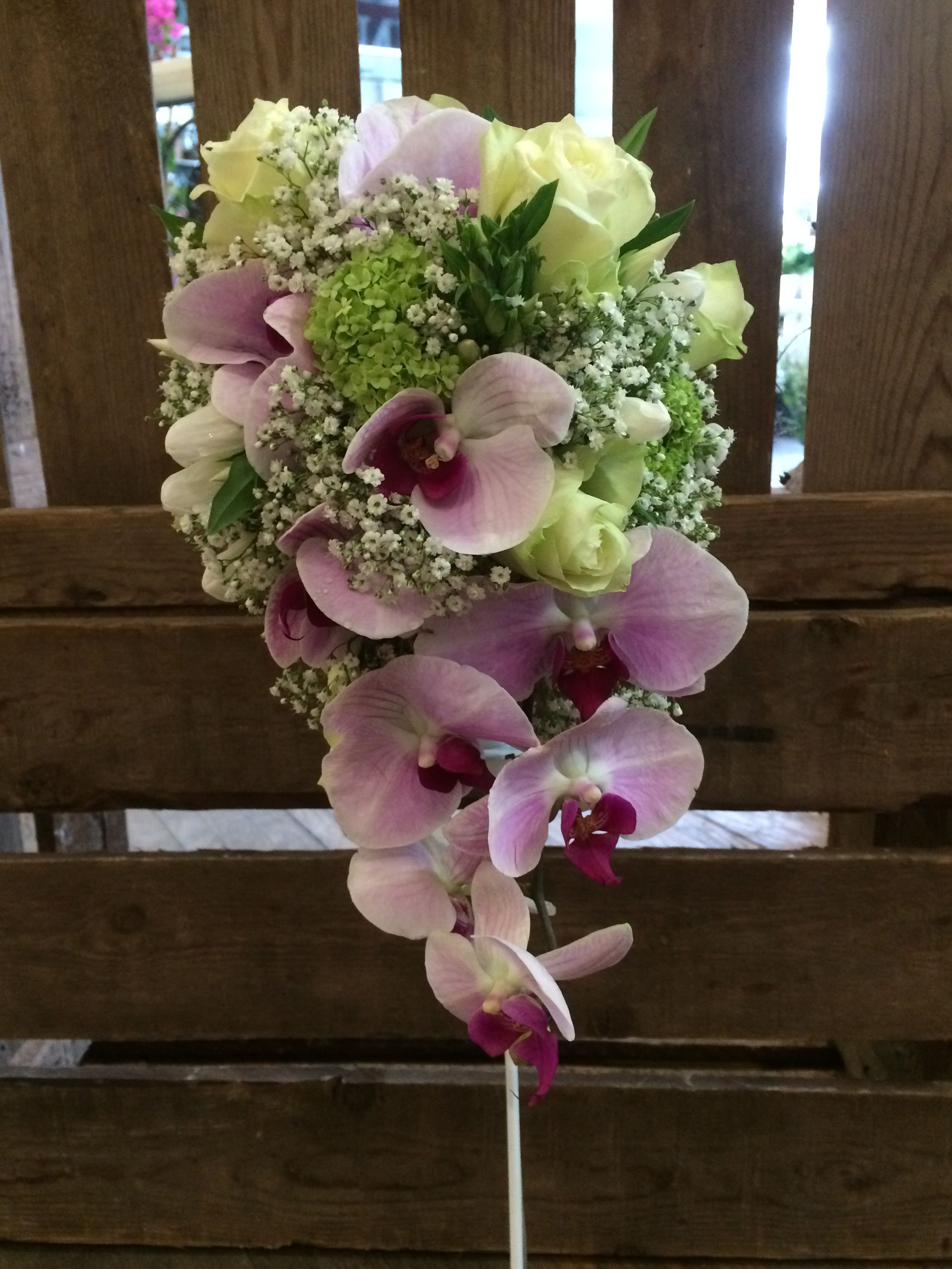 Wedding bouquet with orchids   - by Moens Flowers