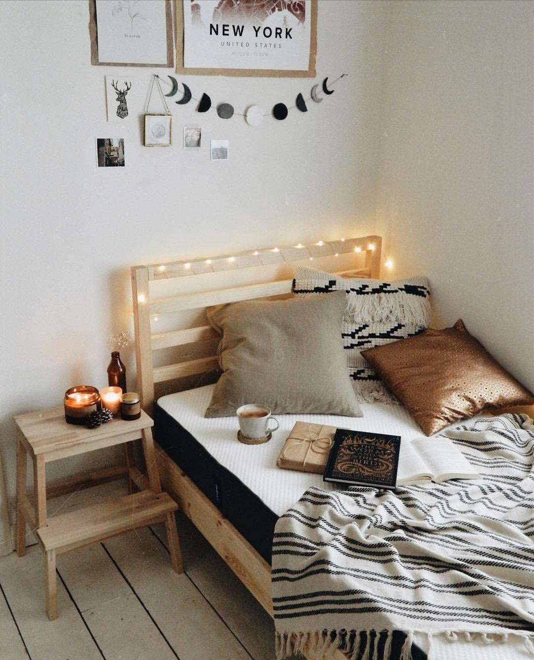 Earthy Minimal Small Room Decor Apartment Bedroom Decor Small Room Decor Diy Home Decor Bedroom