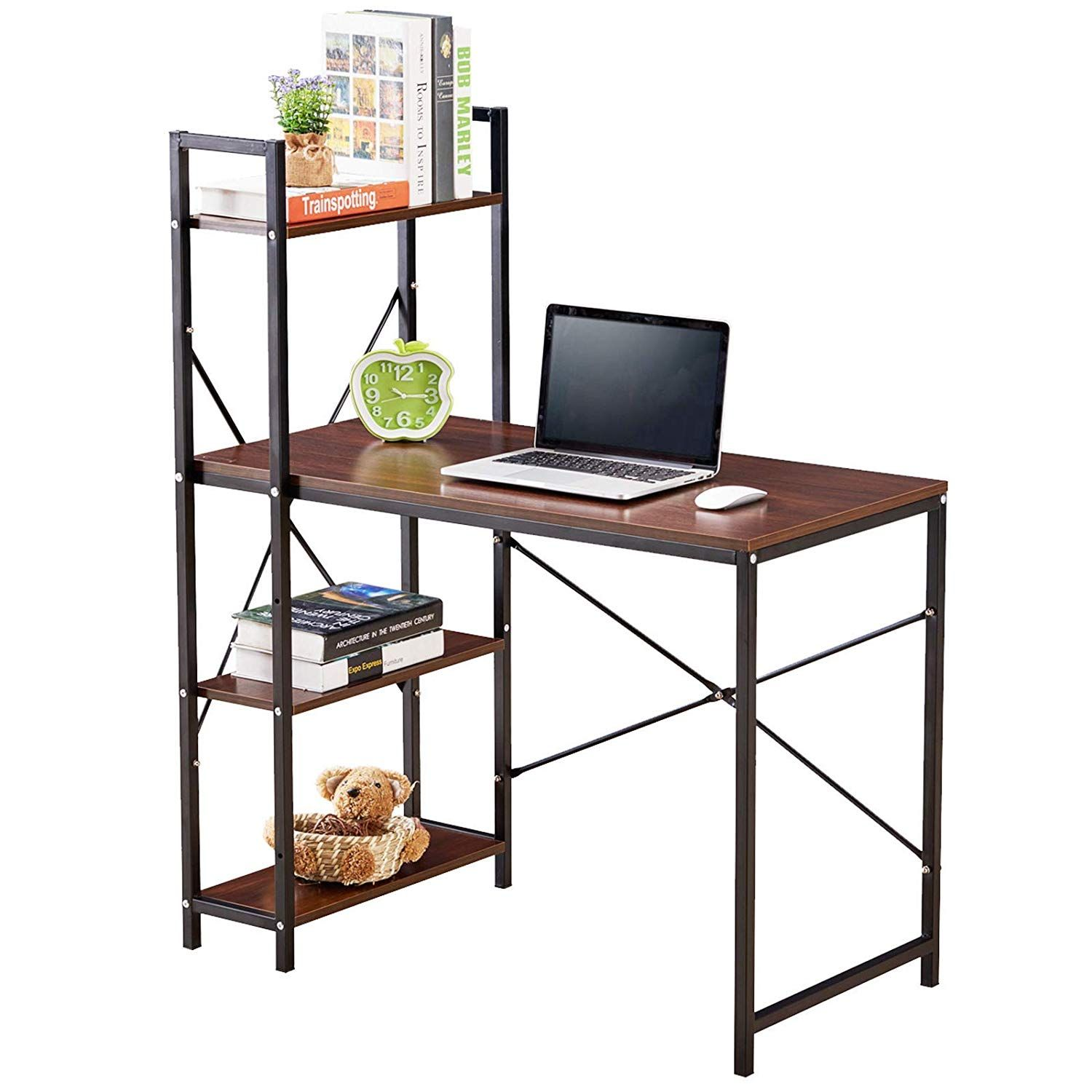 GreenForest Computer Desk with Shelves 4 Tier