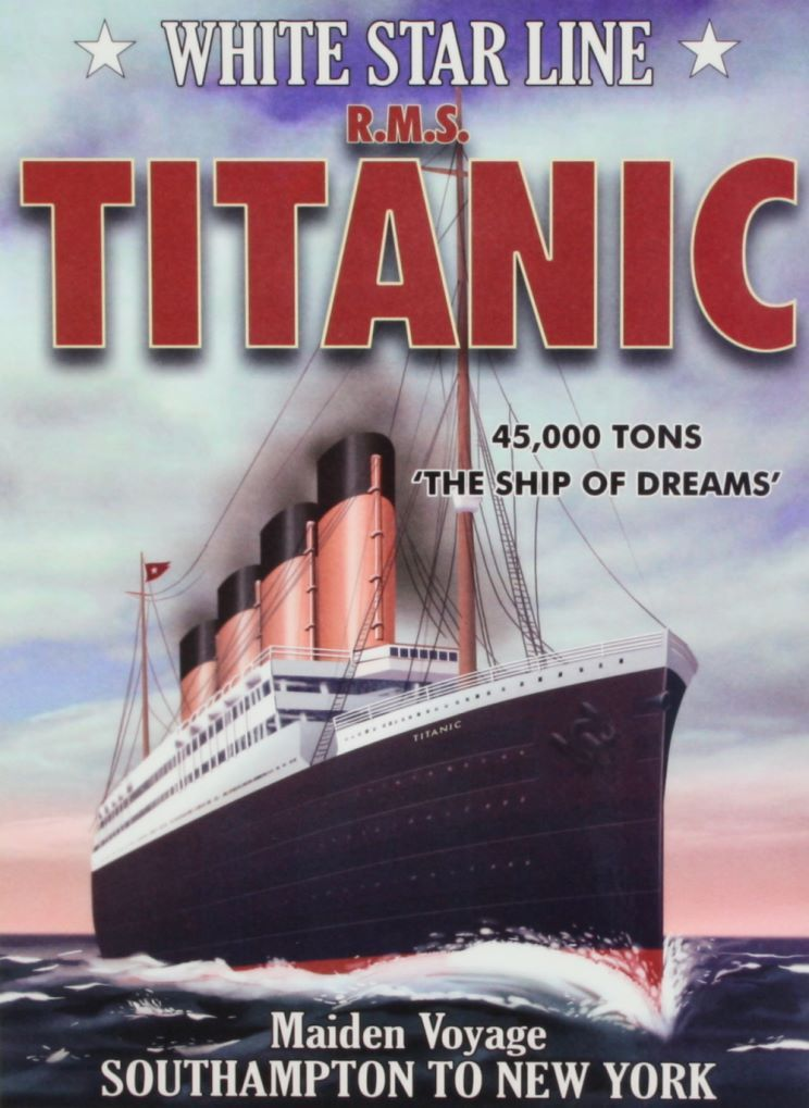 Advertising poster from the White Star Line. | Rms titanic ...