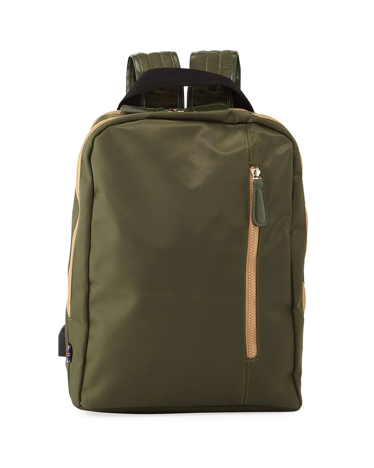 Men S Water Resistant Backpack In Olive Water Resistant Backpack