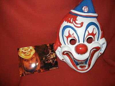 Rob Zombie Halloween Clown Mask.Michael Myers Halloween Clown Mask With Photo Horror
