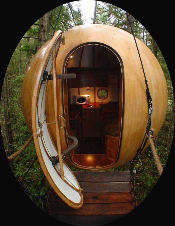 Spherical Tree House Bc Canada I Wish This Was The Control Room