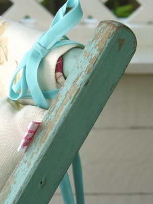 Painted Floral Deck Chair   Vintage Lifestyle