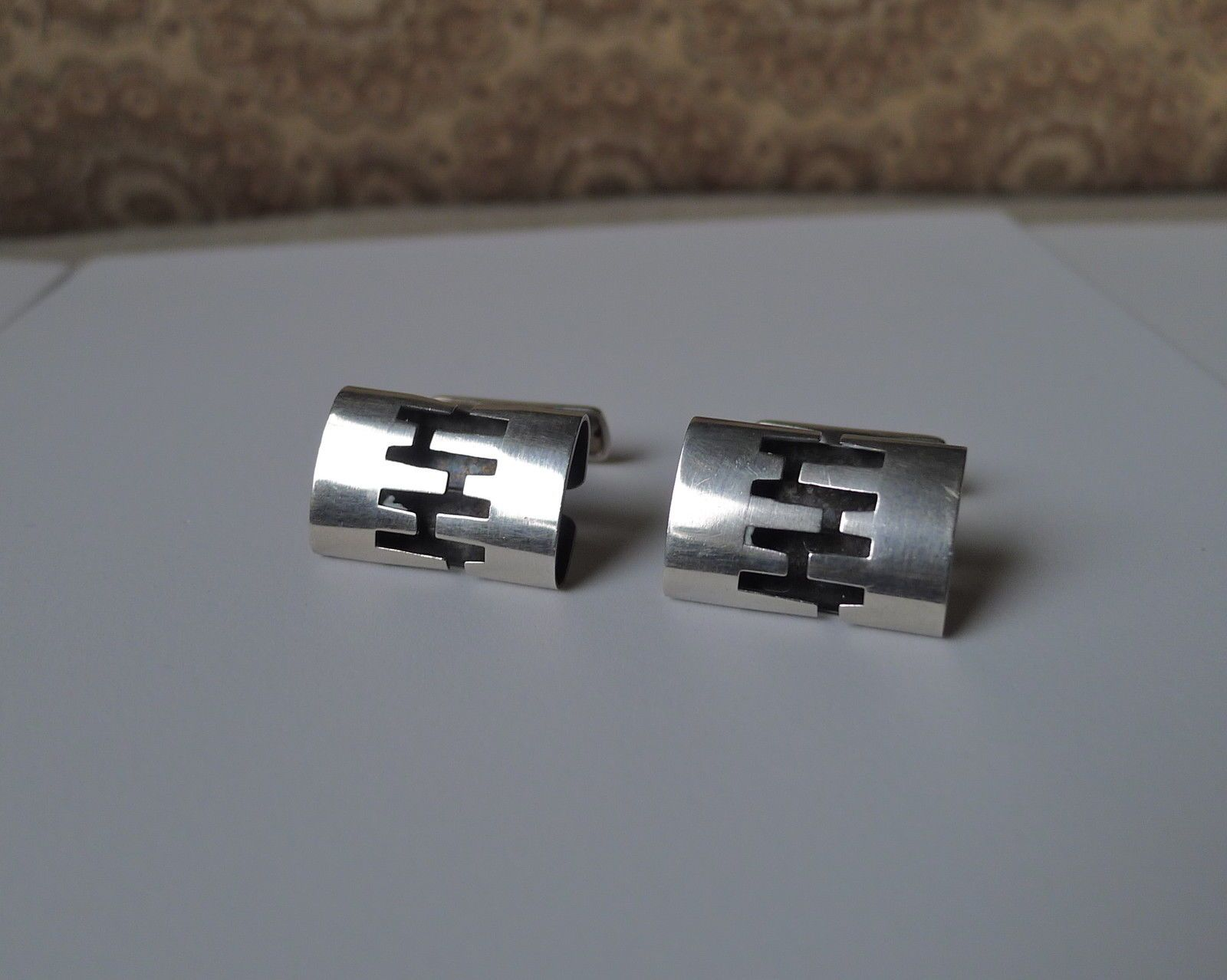 Vintage Modernist Abstract Kupittaan Kulta Finland Sterling Silver Cufflinks | eBay