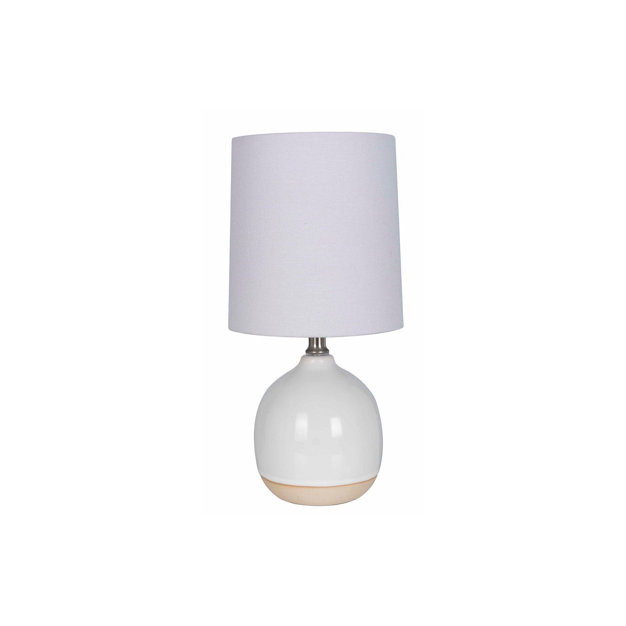 Round Ceramic Table Lamp White Lamp Only Threshold Table