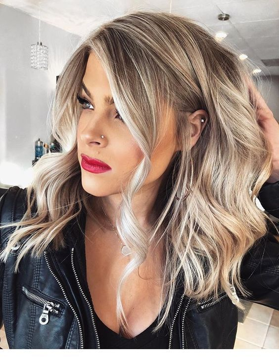 Red Lipstick Hairstyle And Jacket Inspiring Ladies Hair