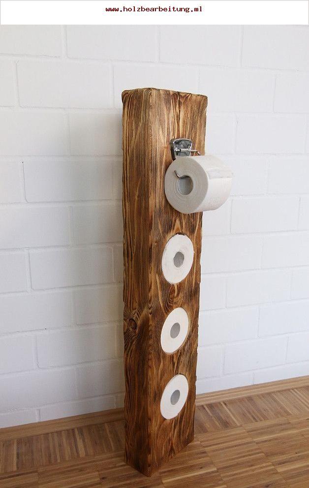 Sehr Schöner Klopapierhalter Aus Massivholz Aus Einem Alten