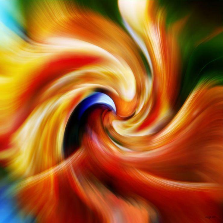 Tableau abstrait les oiseaux de feu feu pinterest for Photo de tableau abstrait