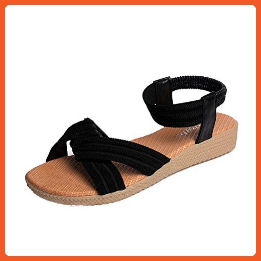 Summer Sandals Inkach Women Flat Shoes Bohemia Sandals Leisure Lady Peep-Toe Outdoor Shoes