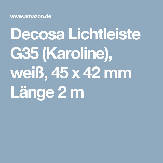 Decosa Lichtleiste G35 (Karoline), weiß, 45 x 42 mm Länge 2 m