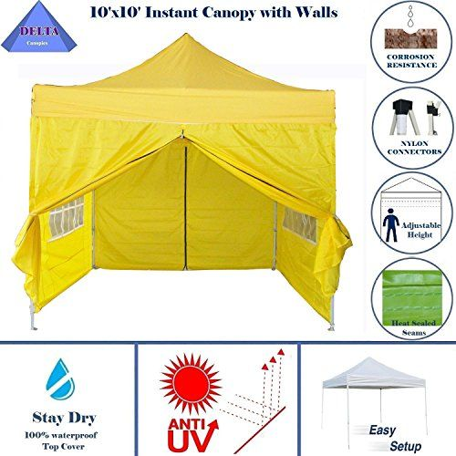 Best Camping Tents 10x10 Pop Up 4 Wall Canopy Party Tent