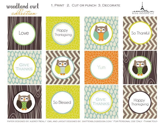 The Partiologist: Free Printables!  #fall #owls #printables