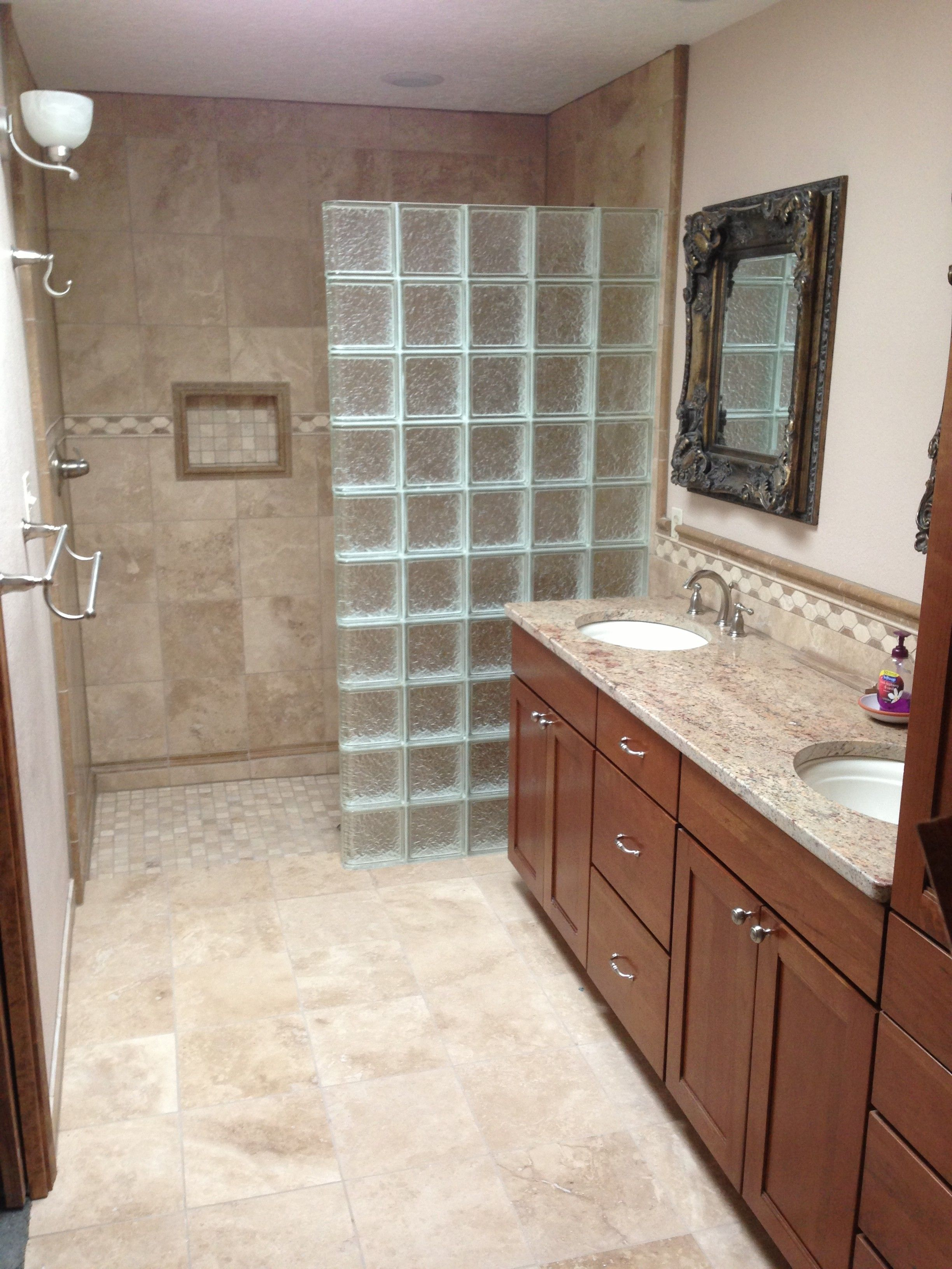 Glass Block Walls In Bathrooms Old Town Glass Blocks With