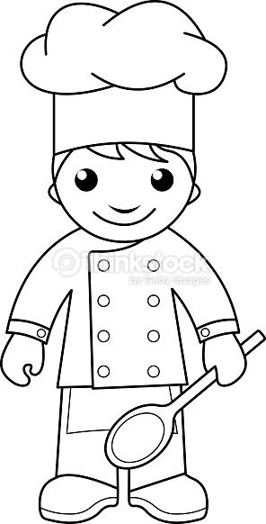 Chef Colouring Page For Kids Google Search Art Drawings For Kids Coloring Books Coloring Pages