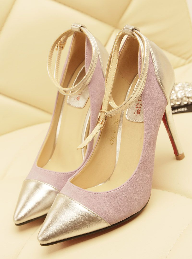 shoes - http://zzkko.com/n192113-ome-minimalist-fashion-spell-color-foot-ring-strap-pumps-sexy-high-heeled-pointed-shoes-·-~-special-new-singles.html $23.67