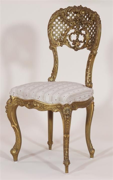 a louis xv style carved giltwood hand chair sale 225 lot 360