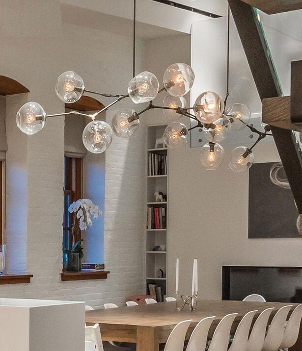 3 5 6 7 8 9 Lights Molecular Glass Pendant Lighting Chandeliers