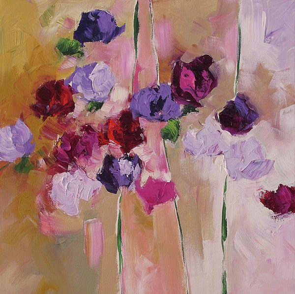 linda monfort summer 39 s end peintures fleurs pinterest peinture fleurs couleur lavande. Black Bedroom Furniture Sets. Home Design Ideas